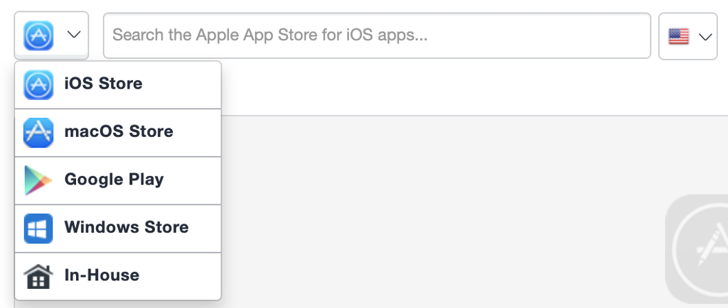 Select iOS Store option